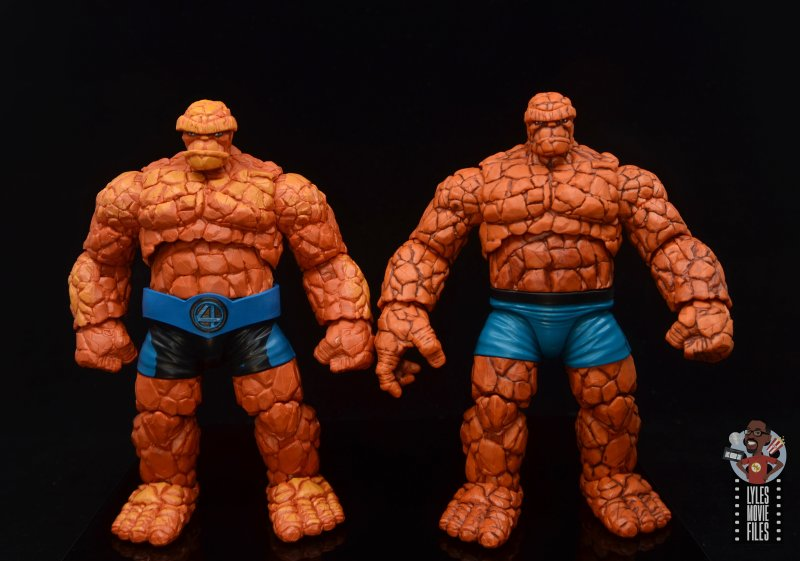 marvel legends the thing figure review - comparison with 2018 thing