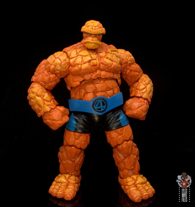 marvel legends the thing figure review -hands on hips