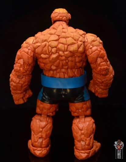 marvel legends the thing figure review - rear