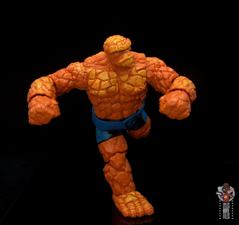 marvel legends the thing figure review - running