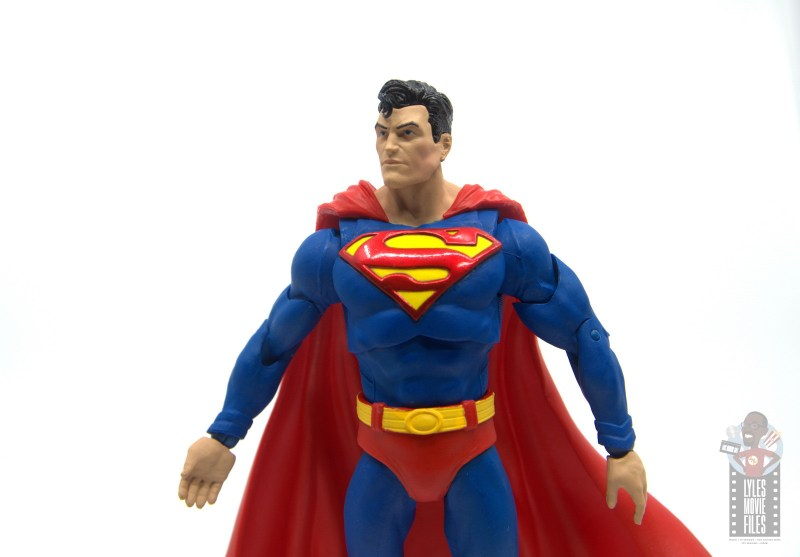 mcfarlane toys dc multiverse superman figure review - cuffs and belt paint job