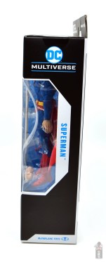 mcfarlane toys dc multiverse superman figure review - package left side