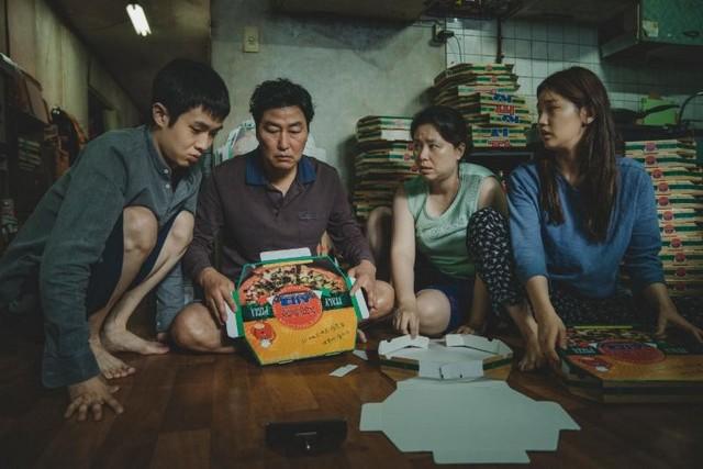 parasite movie review - the kim family