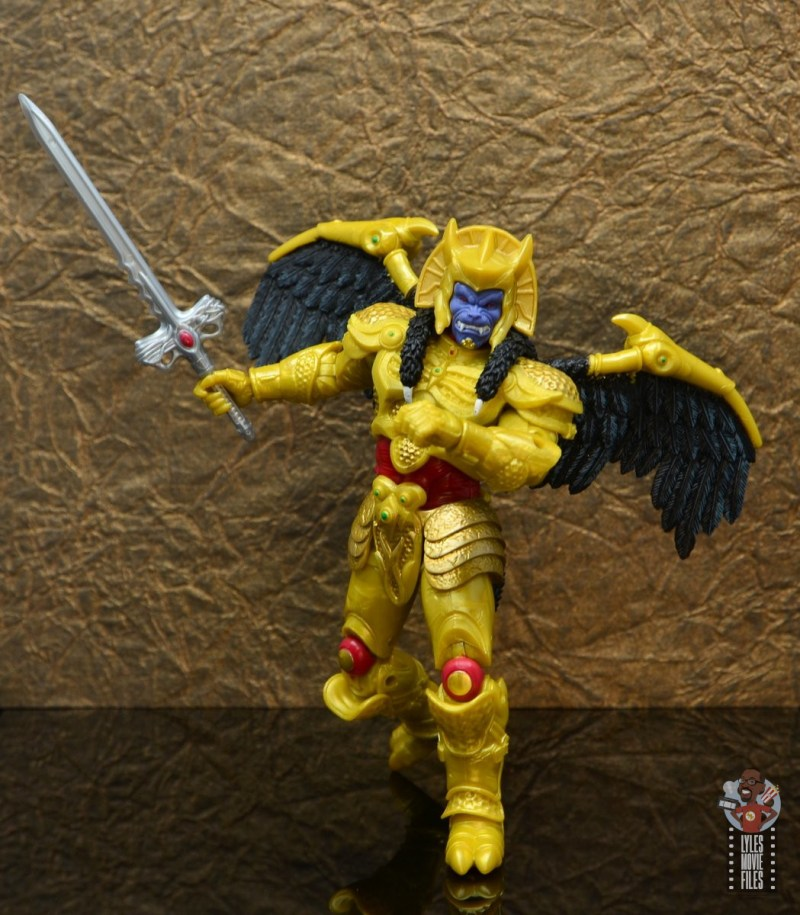 power rangers lightning collection goldar figure review - bringing out sword