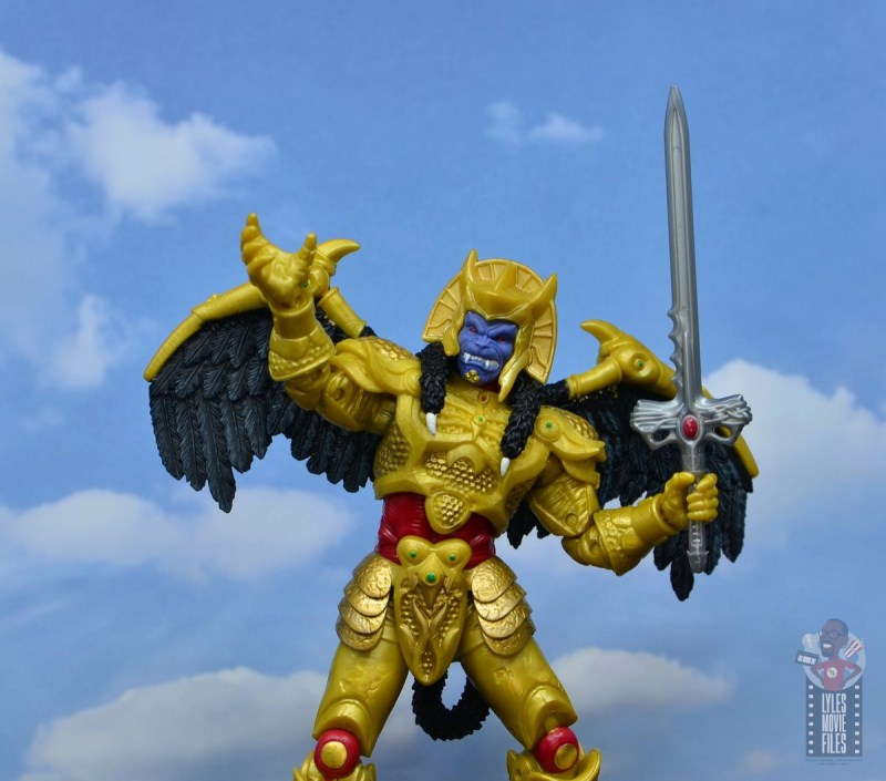 power rangers lightning collection goldar figure review - raising hand