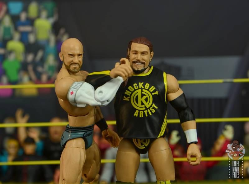 wwe elite 70 kassius ohno figure review - kings of wrestling pose with cesaro