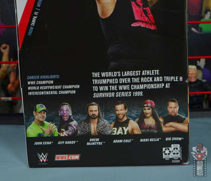 wwe elite 71 the big show figure review - package bio
