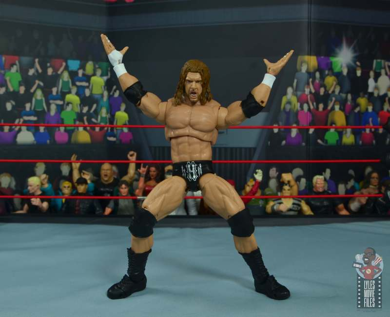 wwe ultimate edition triple h figure review -crotch chop pose