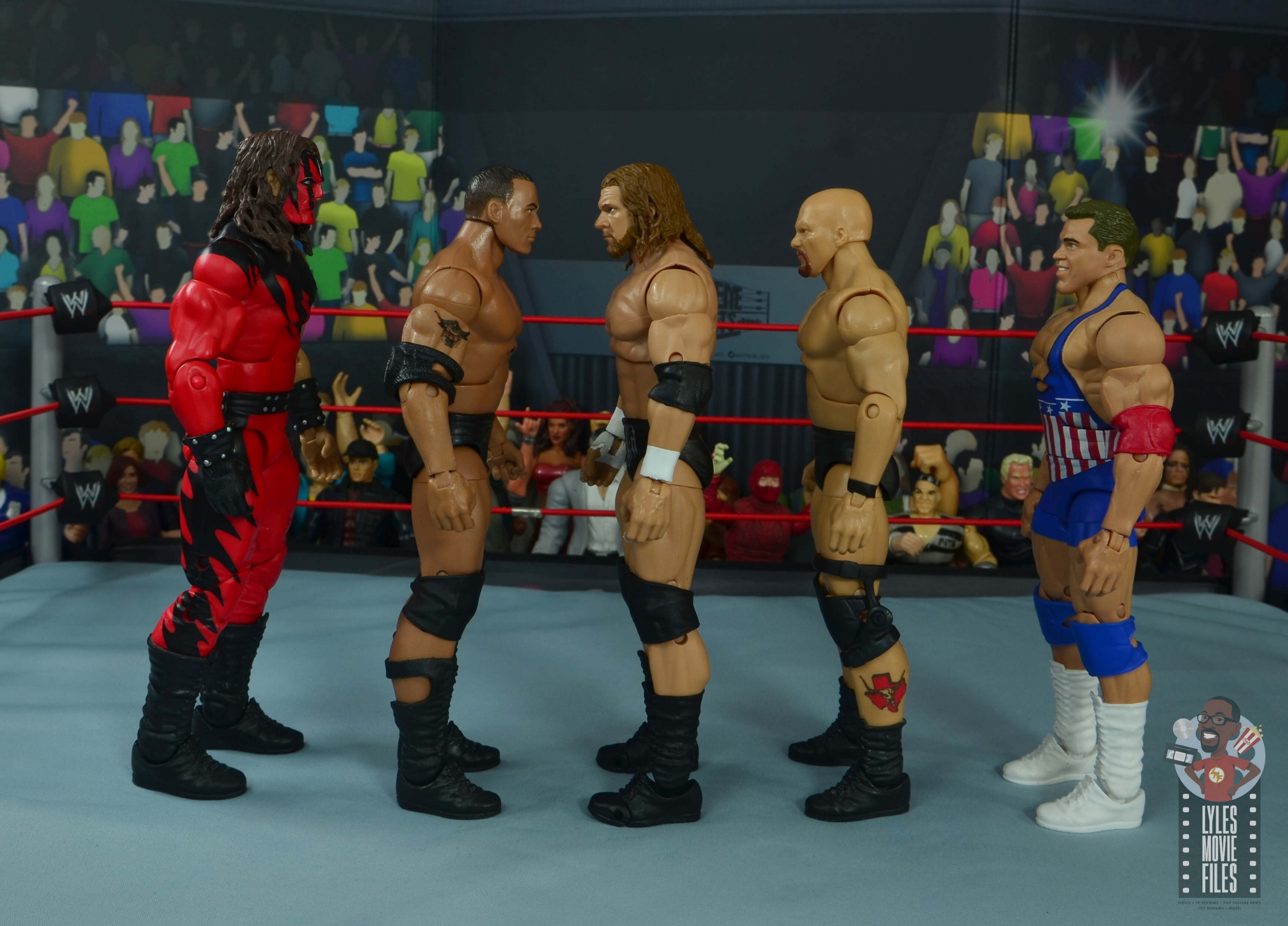 wwe ultimate edition triple h figure review facing kane the rock stone cold and kurt angle lyles movie files wwe ultimate edition triple h figure