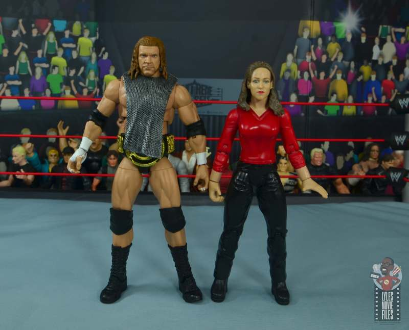 wwe ultimate edition triple h figure review - mesh shirt with stephanie
