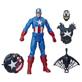 SPIDER-MAN MAX VENOM TITAN HERO BLAST GEAR VENOMIZED CAPTAIN AMERICA Figure - oop (2)