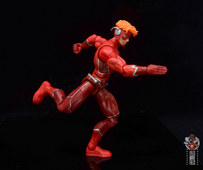 dc multiverse wally west figure review - running side