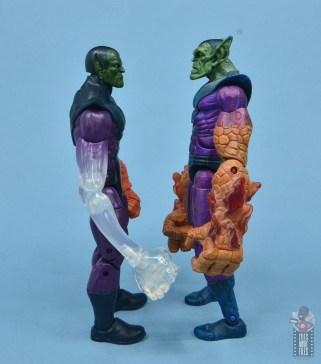marvel legends build-a-figure super skrull figure review - facing toy biz super skrull
