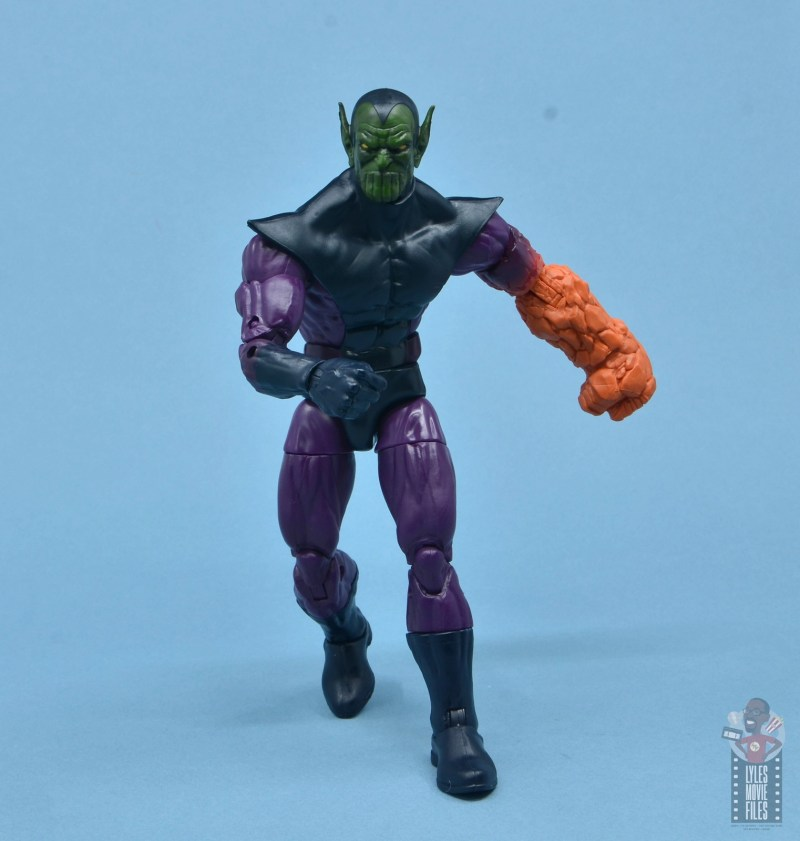 marvel legends build-a-figure super skrull figure review - thing powered arm