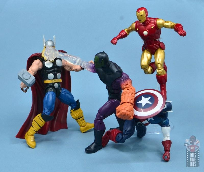marvel legends build-a-figure super skrull figure review - vs thor, iron and captain america