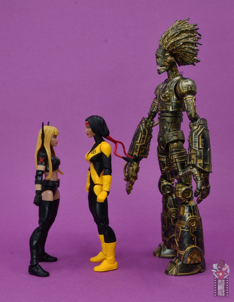 marvel legends dani moonstar figure review - facing magik and warlock