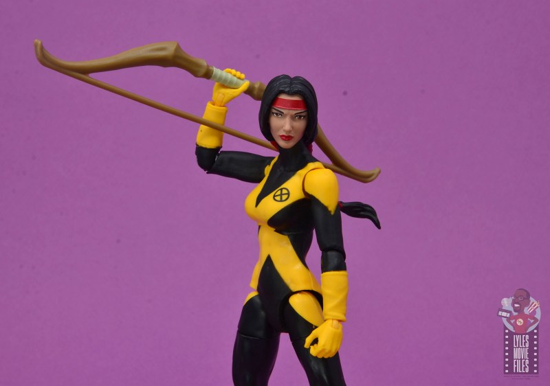 marvel legends dani moonstar figure review - holding bow