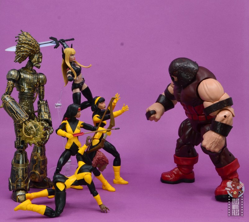 marvel legends dani moonstar figure review - new mutants vs juggernaut
