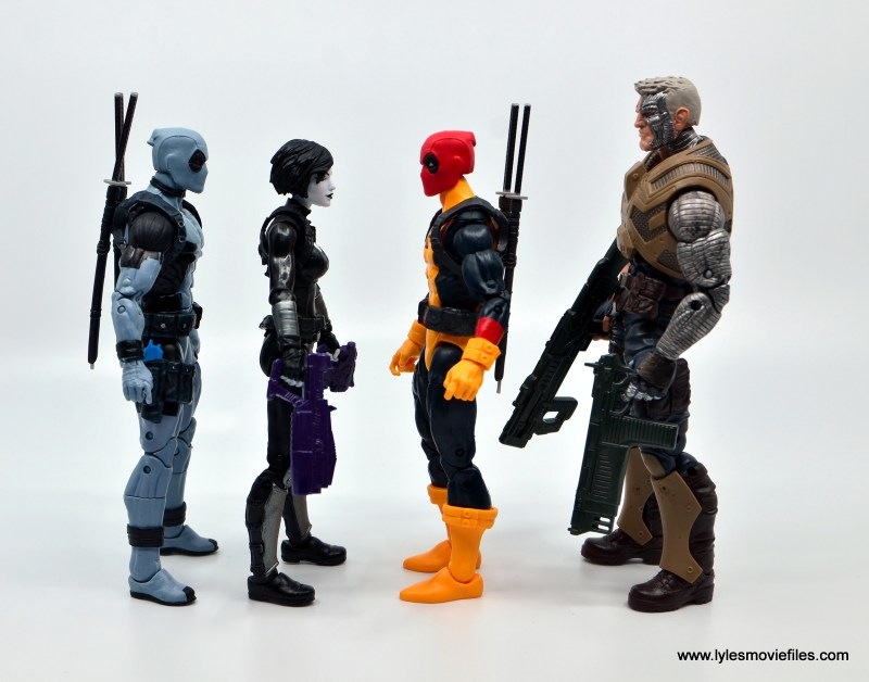 marvel legends deadpool figure review - facing x-force deadpool, domino and cable
