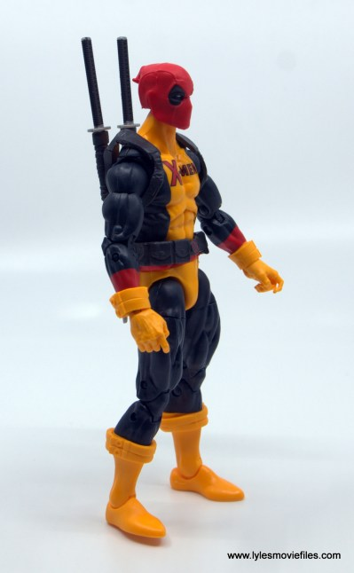 marvel legends deadpool figure review - right side