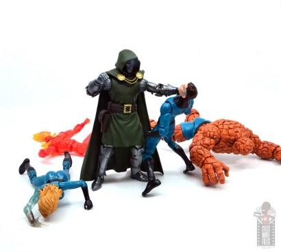 marvel legends doctor doom figure review -choking out mister fantastic