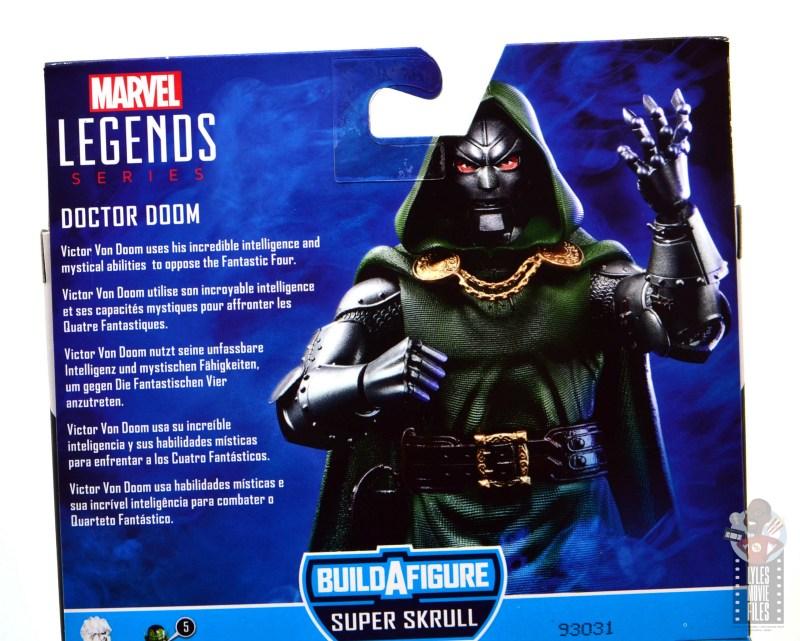marvel legends doctor doom figure review - package bio