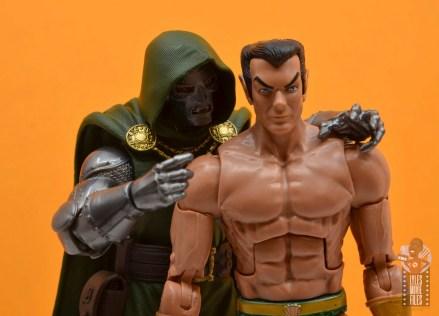 marvel legends doctor doom figure review - teaming up with namor