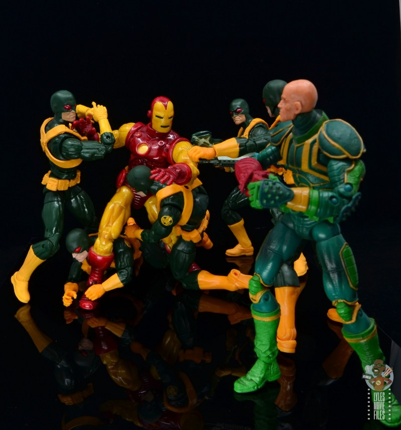 marvel legends hydra soldier figure review -holding back iron man