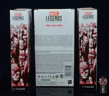 marvel legends hydra soldier figure review -package side and rear