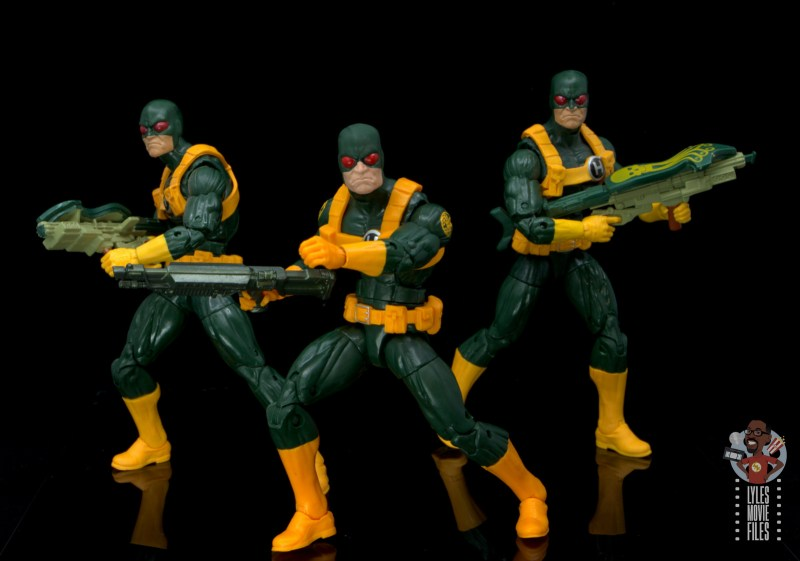 marvel legends hydra soldier figure review - with original hydra soldiers