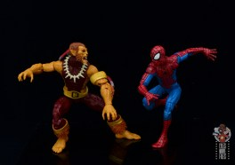 marvel legends puma figure review -facing off with spider-man