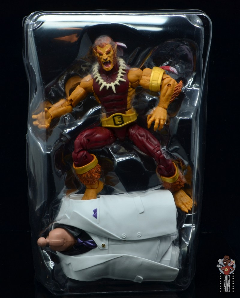 marvel legends puma figure review -insert with kingpin