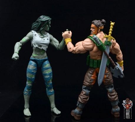 marvel legends she-hulk figure review - arm wrestling hercules