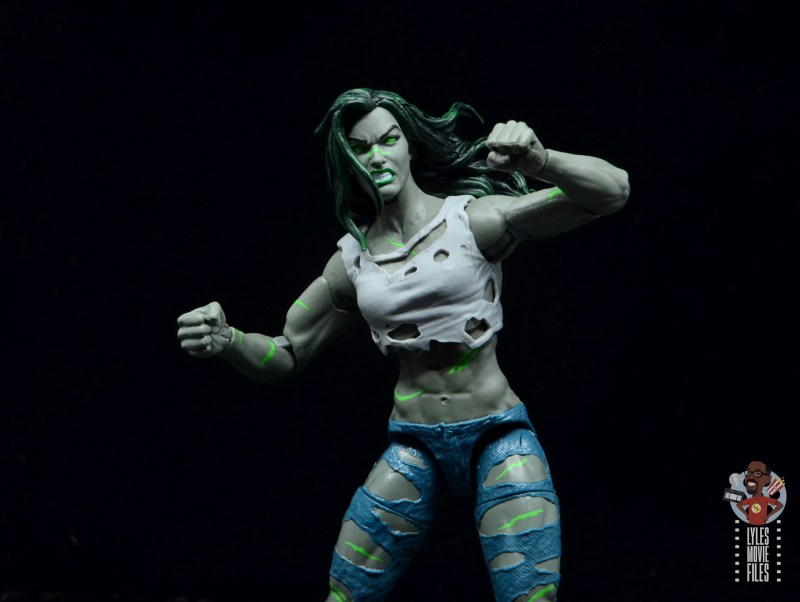 marvel legends she-hulk figure review - main shot