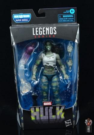 marvel legends she-hulk figure review - package front