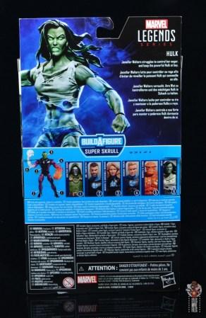 marvel legends she-hulk figure review - package rear
