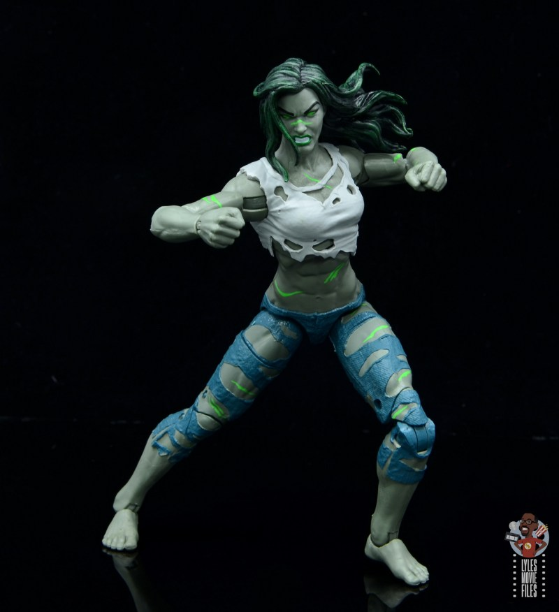 marvel legends she-hulk figure review - ready for a fight