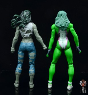 marvel legends she-hulk figure review - rear with first she-hulk