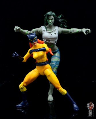 marvel legends she-hulk figure review - with hellcat