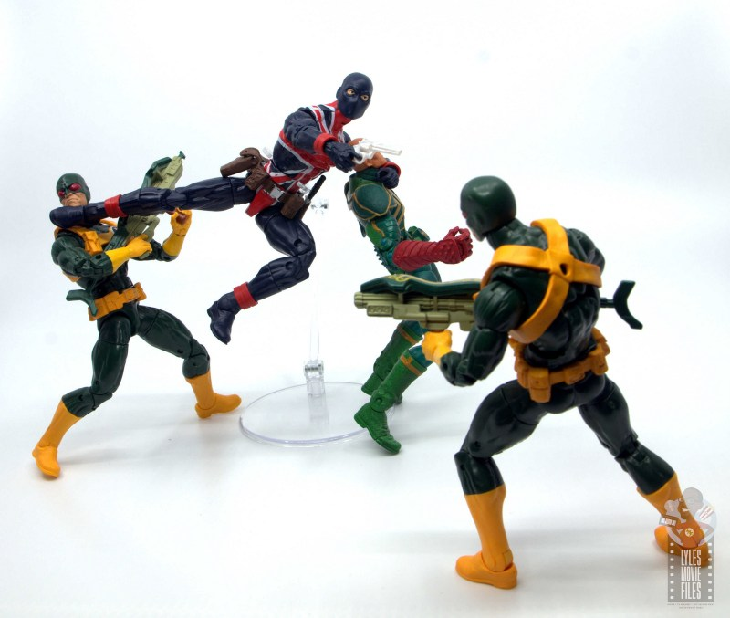 marvel legends union jack figure review - taking on hydra
