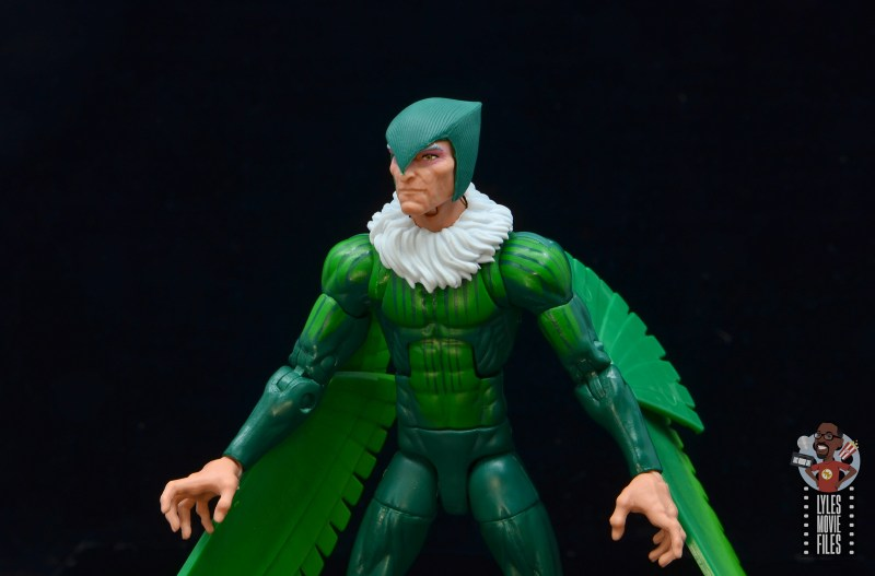 marvel legends vulture figure review - alternate head close up