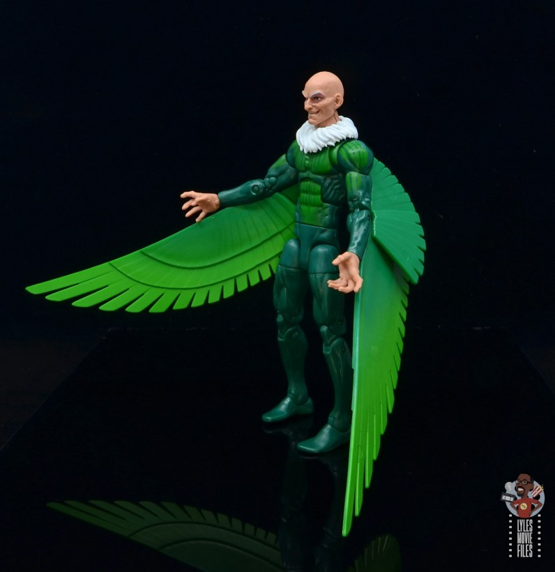 marvel legends vulture figure review - left side