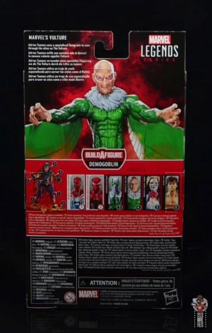 marvel legends vulture figure review - package rear