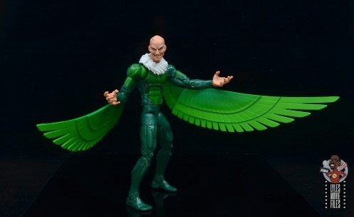 marvel legends vulture figure review - pivoting