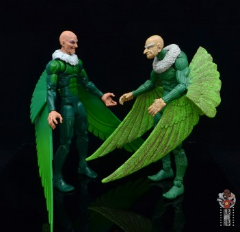 marvel legends vulture figure review - side by side with toy biz vulture