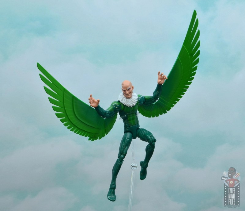 marvel legends vulture figure review - taking to the skies