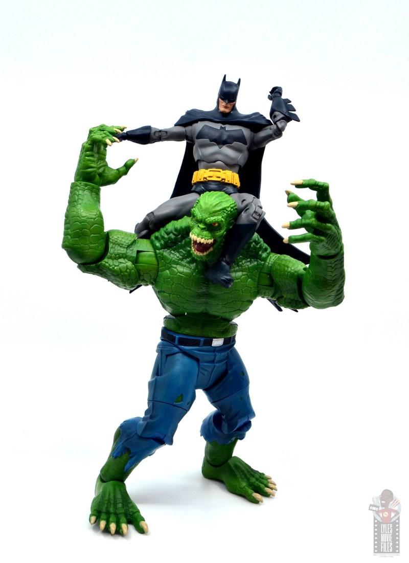 mcfarlane dc multiverse baman figure review -on top of killer croc