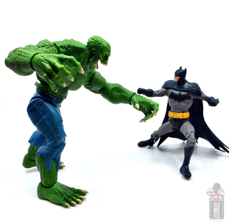 mcfarlane dc multiverse baman figure review - vs killer croc