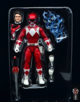 power rangers lightning collection red ranger figure review - accessories in tray