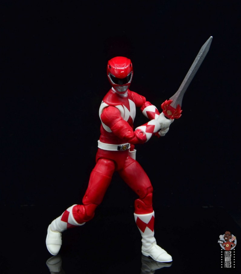 power rangers lightning collection red ranger figure review - stepping forward with sword